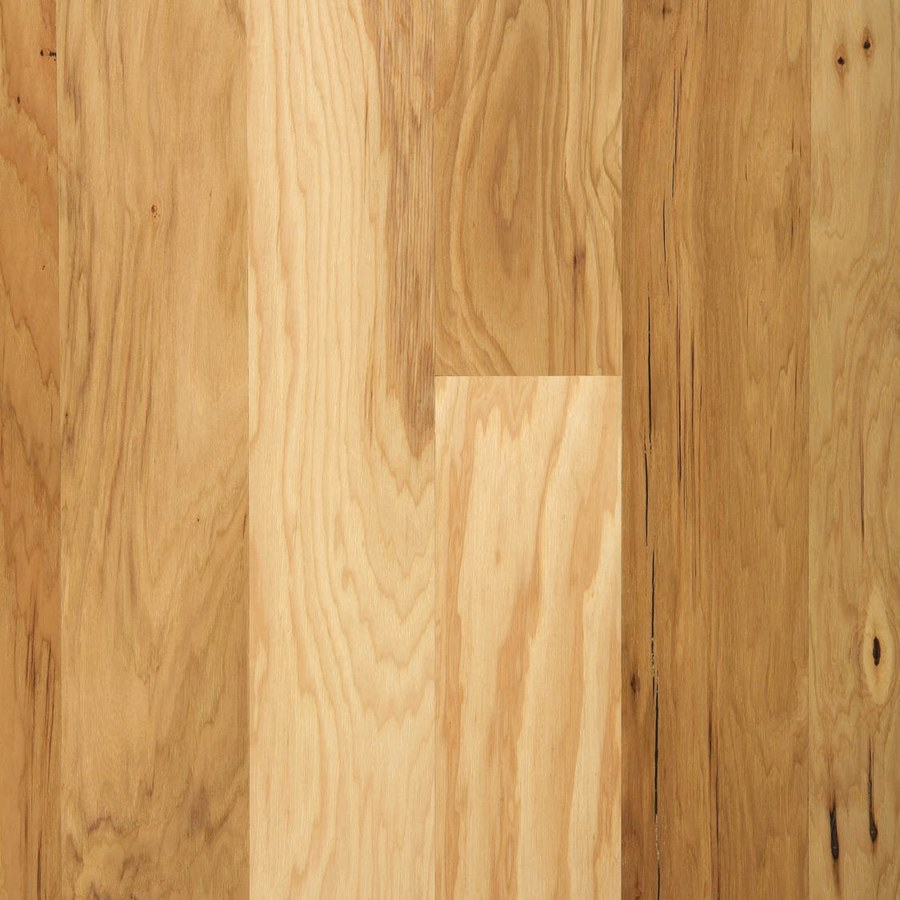 Shop mohawk w prefinished hickory locking hardwood for Prefinished flooring