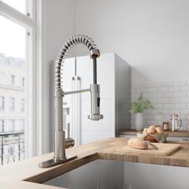Display Product Reviews For Edison Stainless Steel 1 Handle Deck Mount Pull Down Kitchen