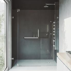 VIGO 28.750-in to 28.750-in Frameless Pivot Shower Door