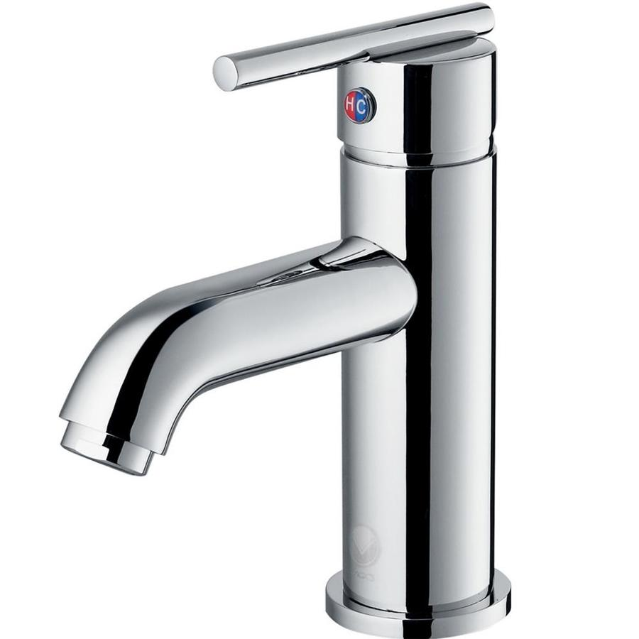 Shop VIGO Chrome 1-Handle Single Hole WaterSense Bathroom Sink Faucet ...