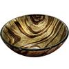 VIGO Zebra Glass Vessel Round Bathroom Sink