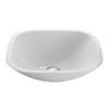 VIGO White Glass Vessel Round Bathroom Sink