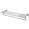 VIGO Allure Chrome Double Towel Bar (Common: 24-in; Actual: 25.75-in)