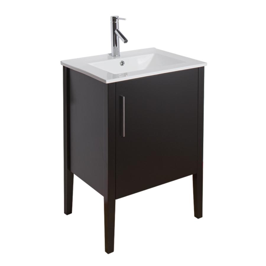 Shop Vigo Maxine Espresso Integral Single Sink Bathroom
