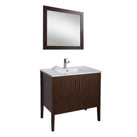 Sink Bathroom Vanity with Vitreous China Top Common: 35in x 18in
