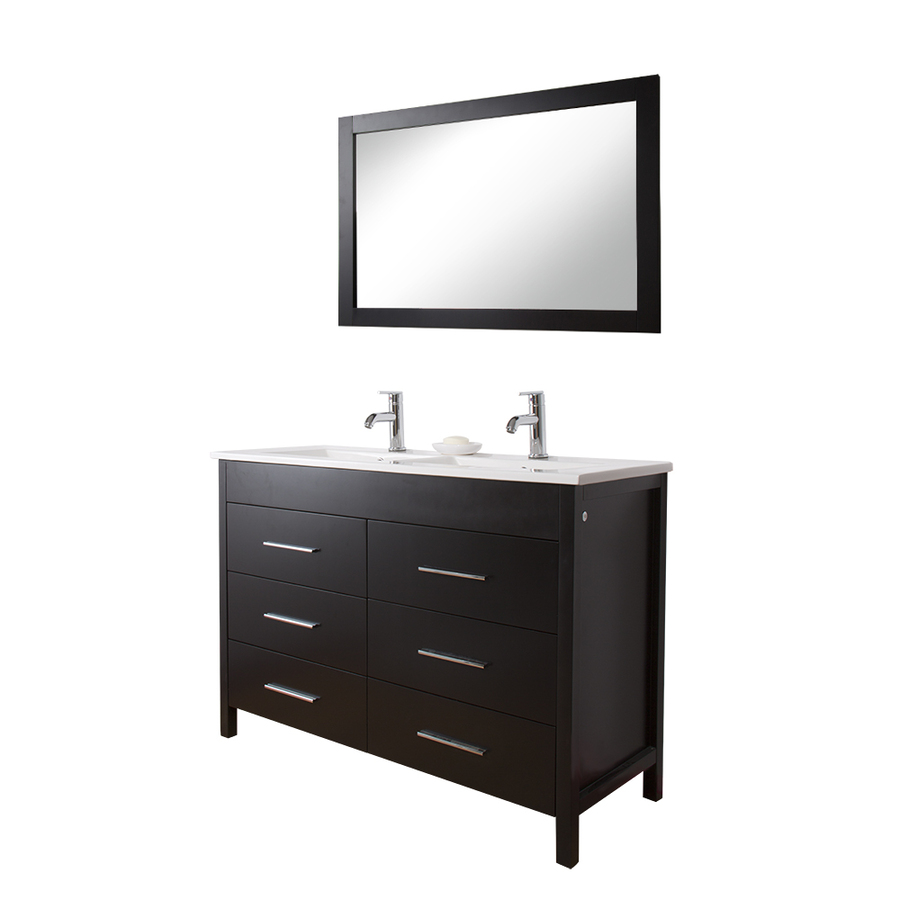 Shop Vigo Maxine Double Sink Bathroom Vanities Espresso
