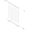 DOLLE Stockholm 3.5-ft White Painted Powder-Coated Steel Stair Railing Kit