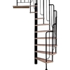 DOLLE 4-ft 7-in Barcelona Black Spiral Staircase Kit