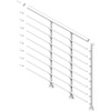 DOLLE 39-1/2-in Powder Coated Metal Landing banister and railing