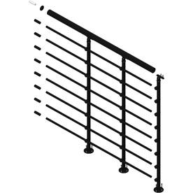 DOLLE Oslo 3.5-ft Black Powder Coated Painted Steel Stair Railing Kit