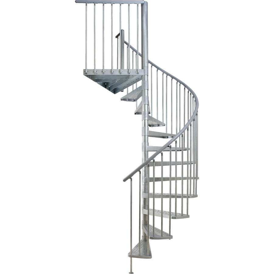 x 13 5 ft galvanized grey spiral staircase kit at