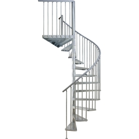 DOLLE Toronto 28.75-in x 13.5-ft Galvanized Grey Spiral Staircase Kit