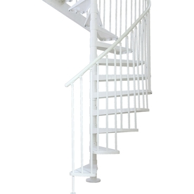 DOLLE 5-ft 1-in Stockholm White Spiral Staircase Kit