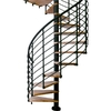 DOLLE Oslo 47-in x 12.5-ft Black with Wood Treads Spiral Staircase Kit