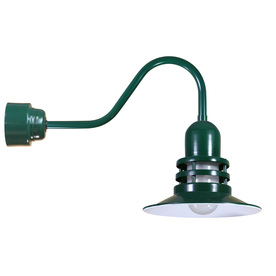 Brooster 12-in W 1-Light Green Arm Hardwired Wall Sconce