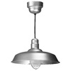 Brooster 20-in W Galvanized Pendant Light