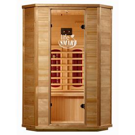 LifeSmart 74-in H x 53-1/2-in W x 47-1/4-in D Hemlock Fir Wood Indoor Sauna