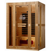 LifeSmart 74-3/4-in H x 55-in W x 41-1/4-in D Hemlock Fir Wood Indoor Sauna