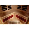 LifeSmart 74-3/4-in H x 53-in W x 53-in D Hemlock Fir Wood Indoor Sauna