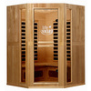 LifeSmart 74-3/4-in H x 53-in W x 53-in D Hemlock Fir Wood Indoor Sauna