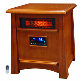 LifeSmart 5,100-BTU Infrared Cabinet Electric Space Heater with Thermostat