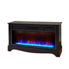 LifeSmart 36-in W 5,100-BTU Black Wood Infrared Quartz Electric Fireplace with Thermostat and Remote Control