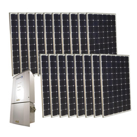 Grape Solar 4.5-Kilowatt Grid-Tie Solar Electric Power Kit GS-4500-KIT