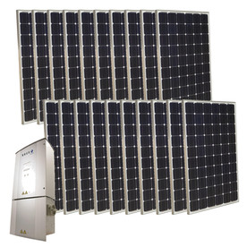 Grape Solar 5-Kilowatt Grid-Tie Solar Electric Power Kit GS-5000-KIT