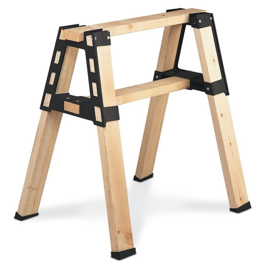 Shop 2x4basics Black Polyresin Saw Horse Brackets at Lowes.com