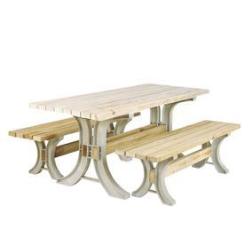 2x4basics Sand Polyresin Picnic Table Brackets