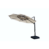 9-ft 10-in Bay Brown Round Patio Umbrella
