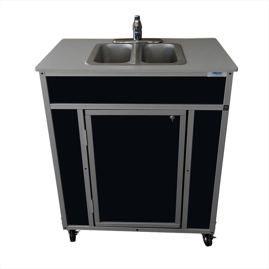 Black Stainless Sink : Shop MONSAM Black Double-Basin Stainless Steel Portable Sink at Lowes ...