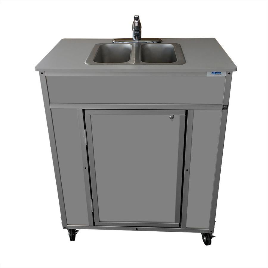 Portable Stainless Steel Sink : ... MONSAM Gray Double-Basin Stainless Steel Portable Sink at Lowes.com