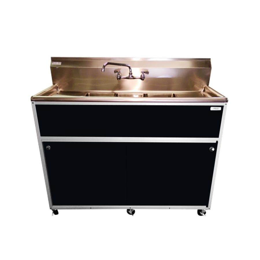 Portable Stainless Steel Sink : ... MONSAM Black Triple-Basin Stainless Steel Portable Sink at Lowes.com