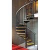 The Iron Shop Ontario 48-in x 10.25-ft White Spiral Staircase Kit