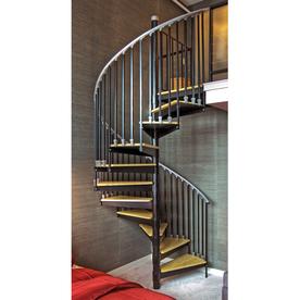 The Iron Shop Ontario 66-in x 10.25-ft White Spiral Staircase Kit