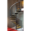 The Iron Shop 5-ft 6-in Ontario Black Baked Enamel Spiral Staircase Kit
