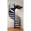 The Iron Shop Elk Grove 66-in x 10.25-ft Black Spiral Staircase Kit