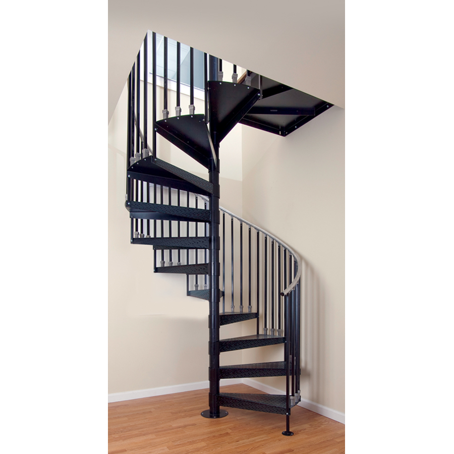 elk grove gray baked enamel interior spiral staircase kit at