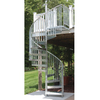 The Iron Shop Venice 60-in x 10.25-ft Galvanized Spiral Staircase Kit