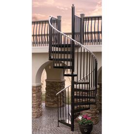 The Iron Shop Houston 42-in x 10.25-ft White Spiral Staircase Kit