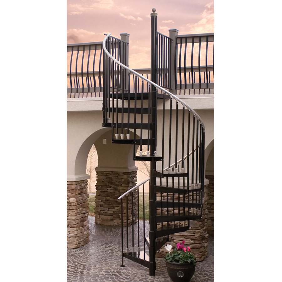 houston gray baked enamel interior spiral staircase kit at