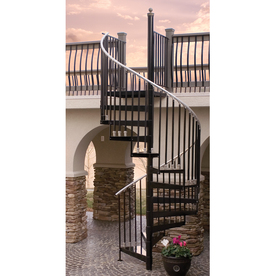 The Iron Shop Houston 29-in x 10.25-ft Gray Spiral Staircase Kit