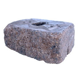Brown/Charcoal Country Manor Concrete Retaining Wall Block (Common: 16-in x 6-in; Actual: 16-in x 6-in)