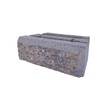 allen + roth Insignia 12-in L x 4-in H Brown and Charcoal Insignia Retaining Wall Block (Actuals 12-in L x 4-in H)
