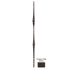 House of Forgings Solid 44-in Wrought Iron Tuscan Stair Baluster