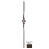 House of Forgings Solid 44-in Wrought Iron Gothic Stair Baluster