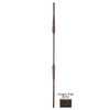 House of Forgings Solid 44-in Wrought Iron Round Stair Baluster