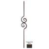 House of Forgings 44-in Classic Powder-Coated Wrought Iron Scroll Baluster