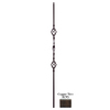 House of Forgings Solid 44-in Wrought Iron Ribbon Stair Baluster